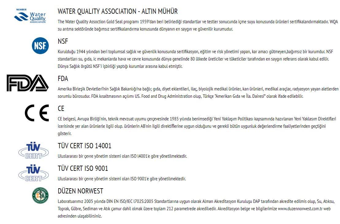 sertifikalar RNW 1200 ARITMALI SICAK SOĞUK SEBİL